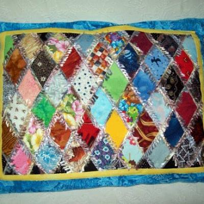 Coussin patchwork scraboutcha