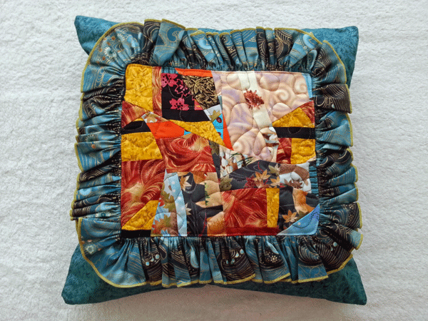 Coussin patchwork